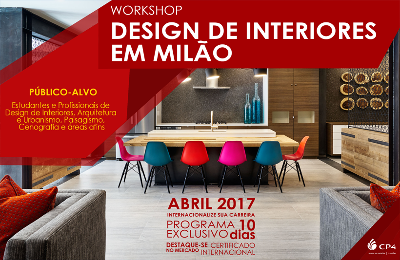 Vagas abertas para a terceira edição do  Workshop Design de Interiores em Milão