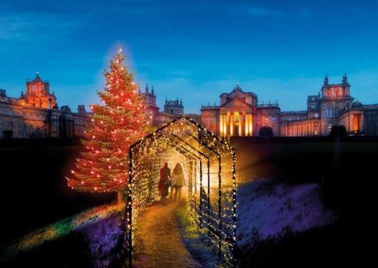 Natal no palácio de Blenheim