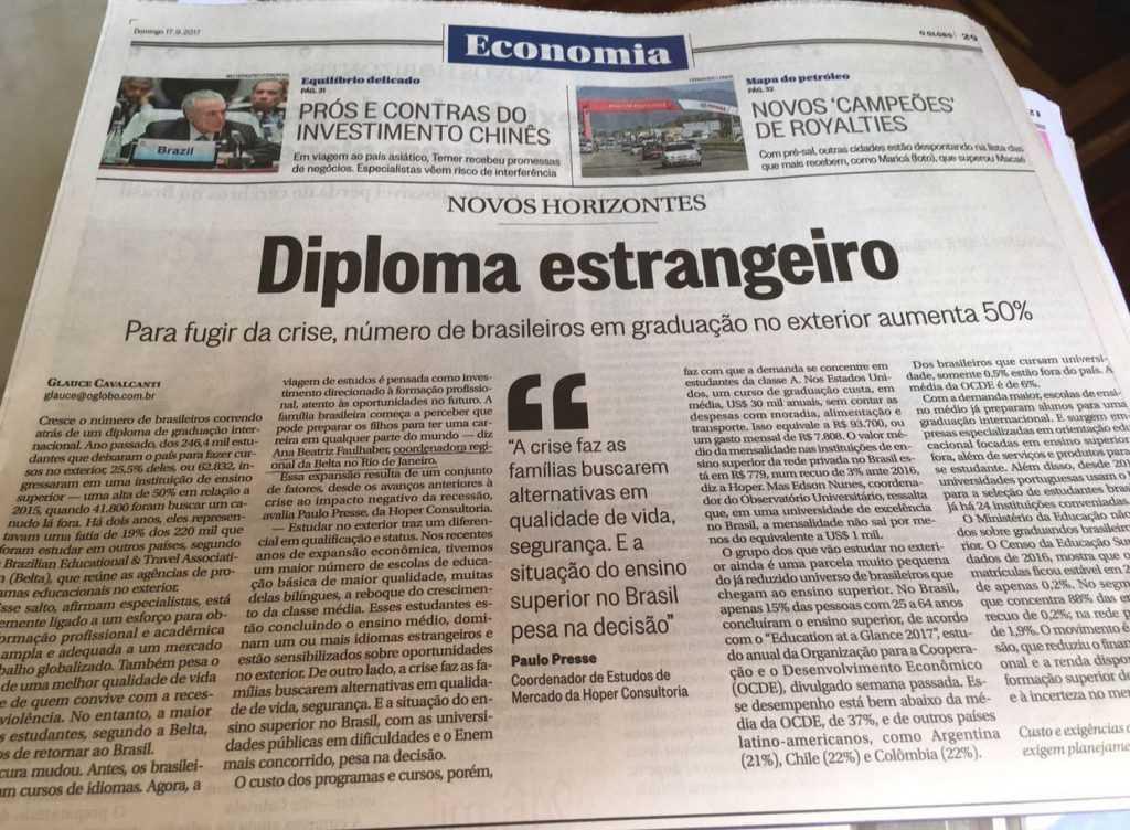 CEO da CP4 e coordenadora da Belta RJ fala sobre diploma estrangeiro no O GLOBO
